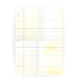 Vector old notepad ruled blank page with folds Stock Images