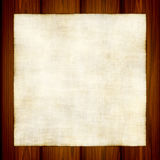 Vector Old Paper On Wood Royalty Free Stock Photography