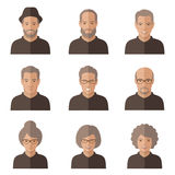 Vector old people face. Royalty Free Stock Photo