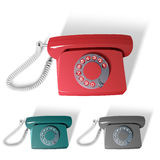 Vector old phone in different colors Stock Photo
