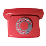 Vector old phone in red colors Royalty Free Stock Image