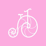 Vector old retro bicycle Royalty Free Stock Photos