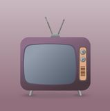 Vector old retro TV - Illustration Stock Images