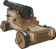 Vector old ship gun Royalty Free Stock Images