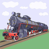 Vector. Old steam locomotive. Stock Image