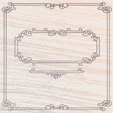 Vector  Old Style Inlay Wood Frame Royalty Free Stock Image