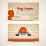 Vector old-style retro vintage business card Stock Photos