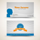 Vector old-style retro vintage business card Royalty Free Stock Photo