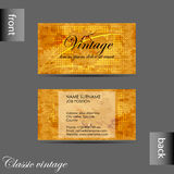 Vector old style retro vintage business card Stock Photography