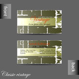 Vector old style retro vintage business card Stock Photo