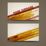 Vector old-style retro vintage business card template Royalty Free Stock Photo