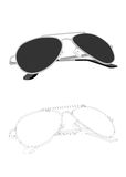 Vector old style sunglasses Stock Image