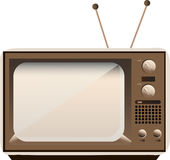 Vector old TV. Vector illustration of old retro TV set Stock Photography