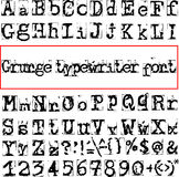 Vector old typewriter font Royalty Free Stock Images