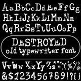 Vector old typewriter font. Vintage font. Old grunge font Royalty Free Stock Image