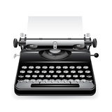 Vector old typewriter icon Stock Images