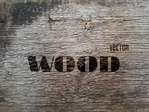 Vector Old Wood Texture Royalty Free Stock Photography