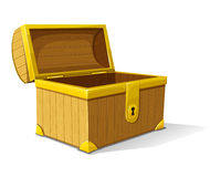 Vector old wooden box opened Stock Photography