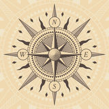 Vector oldstyle wind rose compass. Vector illustration Stock Photography
