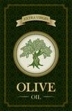 Vector olive oil label design. Vector olive oil label design with olive tree illustration Royalty Free Stock Images