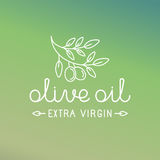 Vector olive oil logo Stock Photos