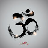 Vector: om symbol with brushwork Stock Photo