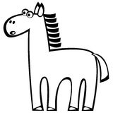 Vector one horse on white Stock Image