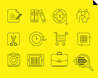 Vector one line icons Royalty Free Stock Photography