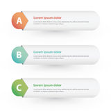 Vector One Two Three steps; progress banners with colorful tags. Stock Images