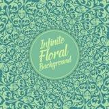 Vector oneindige bloemenachtergrond Elegant ouderwets bloemenornament, uitstekend bloemenmalplaatje vector illustratie
