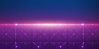 Vector oneindige ruimteachtergrond Matrijs van gloeiende sterren met illusie van diepte en perspectief vector illustratie