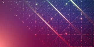 Vector oneindige ruimteachtergrond Matrijs van gloeiende sterren met illusie van diepte en perspectief stock illustratie