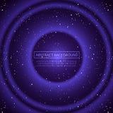 Vector oneindige ruimteachtergrond Matrijs van gloeiende sterren met illusie van diepte en perspectief Abstracte futuristisch vector illustratie
