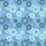 Vector ongoing pattern with green gears. Creative geometric background wheels. Vector ongoing pattern with green gears. Creative geometric background with Royalty Free Stock Photography