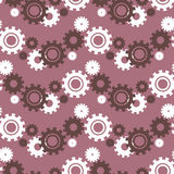 Vector ongoing pattern with green gears. Creative geometric background wheels. Vector ongoing pattern with green gears. Creative geometric background with Royalty Free Stock Photo