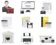 Vector online banking icon set. Part 1 Royalty Free Stock Image