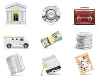 Vector online banking icon set. Part 3 Stock Images
