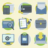 Vector online business icons in flat style Stock Photography