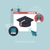 Vector online education concept illustration Royalty Free Stock Image