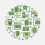 Vector online payment illustration Stock Photo