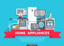 Vector flat home appliance sale icon Royalty Free Stock Images