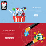 Vector online shopping concept Royalty Free Stock Images