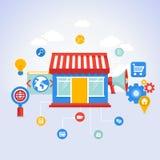Vector online shopping concept Stock Photos