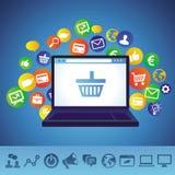 Vector online shopping concept Stock Photo