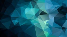 Vector onregelmatige veelhoekachtergrond - driehoeks laag polypatroon - donkere marine, wintertaling, cyaan, aqua, blauwgroene kl stock illustratie
