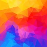 Vector onregelmatige veelhoekachtergrond met een driehoekspatroon in de kleur van het regenboogspectrum Royalty-vrije Stock Afbeeldingen