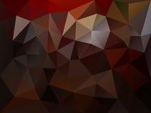 Vector onregelmatige veelhoekachtergrond met een driehoekspatroon in donkere bruine kleur Stock Fotografie
