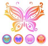Vector ontwerp van vlinder Stock Afbeelding