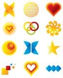 Vector ontwerpelementen en emblemen Stock Foto