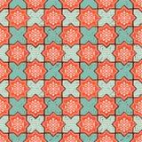 Vector oosters naadloos patroon Realistische Uitstekende Marokkaanse, Portugese achthoekige tegels royalty-vrije illustratie